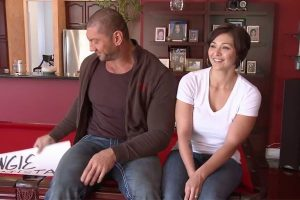 Dave Bautista with his second wife, Angie Bautista.