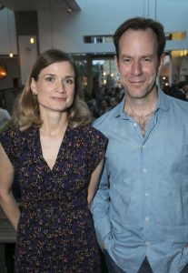 Demetri took a picture with an actress Dan while attending press night event