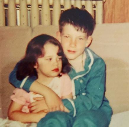 Dylan with his little sister