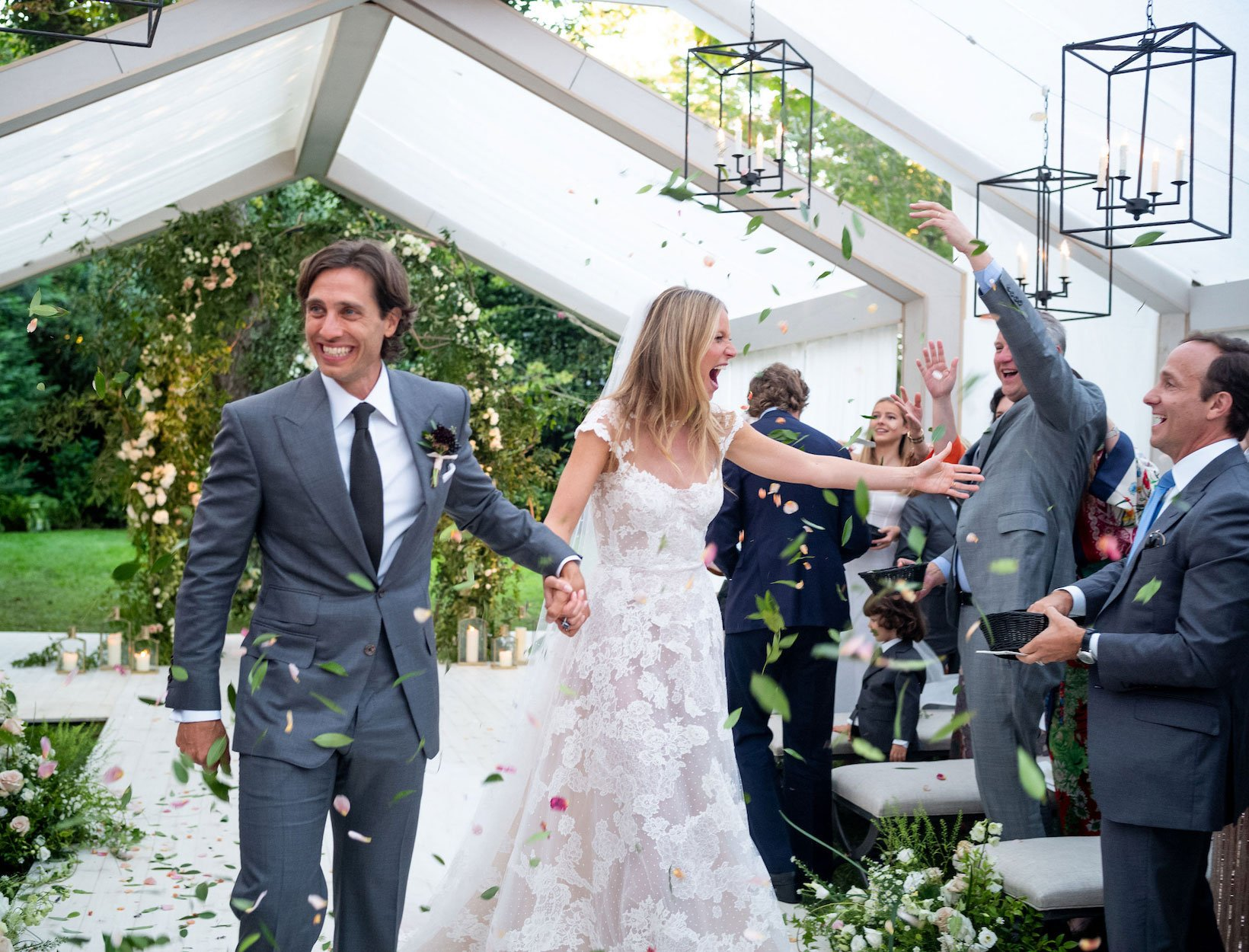 Brad Falchuk on his wedding day with his wife