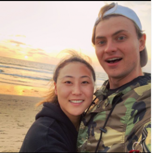 Lizzy and Carter having a nice time at beach