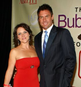 Mark took a picture with her former wife Leanza during an event