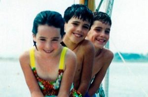 Lindsay with her two brothers, Chris and Brad.