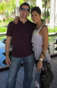 Veronica Cintron with her husband, Preston Rudie.