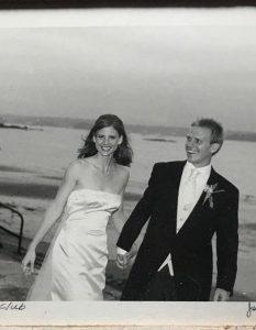 Sarah Rafferty and her husband