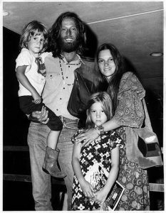 Justin Fonda with his father, mother, and sister, Bridget.