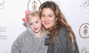 Frankie Barrymore Kopelman with her mother, Drew Barrymore.