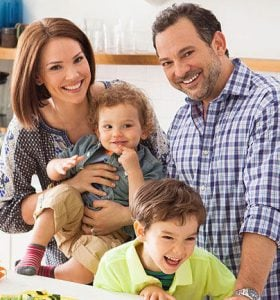 David with his wife and two sons, Weston and Sawyer.