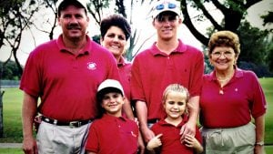 Lexi Thompson at an early age with her mother, father and two brothers.