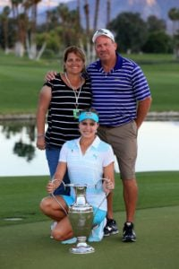 Lexi Thompson enjoying her happy life with her parents.