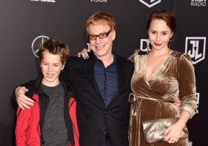Oliver with his father, Danny and stepsister, Mali in an award function.