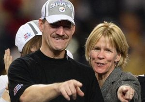 Bill Cowher with his former wife, Kaye Cowher.