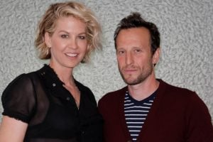 Richard's son Bodhi Elfman with his wife, Jenna.