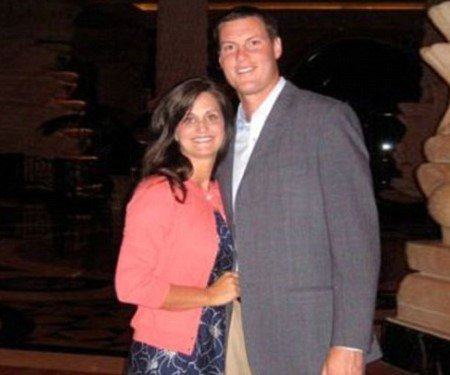 Philip Rivers with his wife