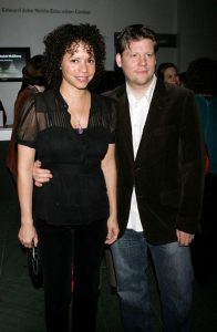Hutchins with her ex-husband, Steve Overmyer.