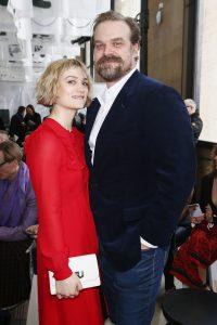 David with an ex-girlfriend, Alison Sudol.