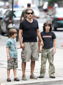 Michael Imperioli with his two sons, Vadim and David Imperioli.