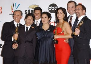 James Hayman with his co-actors of Ugly Betty in an award function.