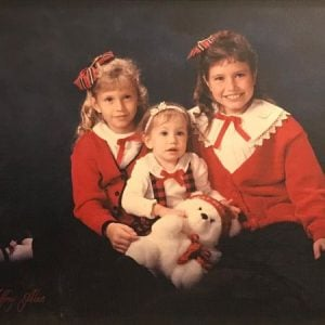 Erin Myers with her younger siblings.