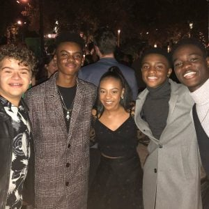 Priah took a picture with her co-star of Stranger Things