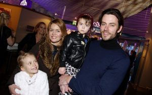 Gardarsson with his wife and two children, Rachel and Gardar.
