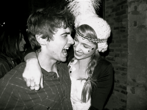 Franco with ex-girlfriend, Dianna Agron.
