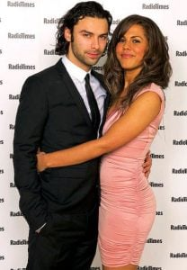 Crichlow with her ex-boyfriend, Aidan Turner.