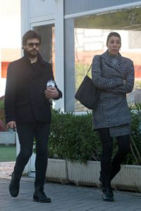 Alvaro and his wife Blanca caught in camera while walking in at Madrid, Spain