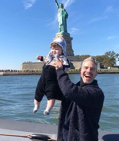 Benjamin Allen Cohen with his dad