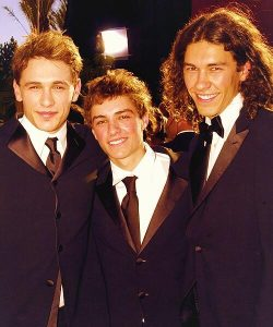 Dave (middle) with his two brothers, James and Tom attending the award ceremony.