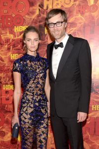 Christine Marzano with her ex-boyfriend, Stephen Merchant.