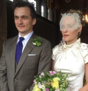 Amiee with her husband, Rupert Friend.