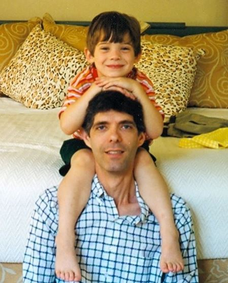 David Corenswet with his father