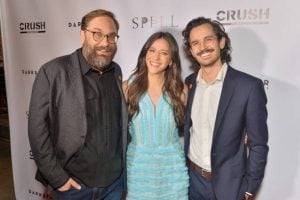 Jackie took picture with Barak Hardley and Brendan Walter at the Premiere of Spell