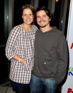 Palka with her ex-partner, Jason Ritter.