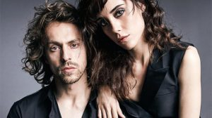 Metin and Cansu took a picture during a photoshoot