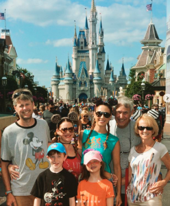 Collins with her family enjoying free time with them.