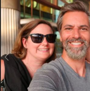 Josh Darnit with his wife, Sarah Zeegee.