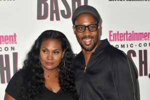 Talani and her husband RZA took a picture during and event