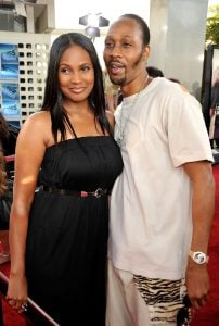Talani with her husband RZA during an event
