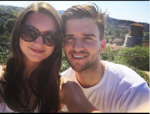 Vanessa took a picture with her boyfriend while they were traveling to Italy
