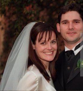Rebecca Gleeson with her husband, Eric Bana.