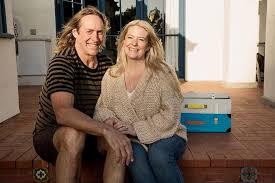 Rynne Stump with her partner, Danny Carey.