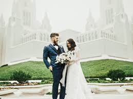 Bryce with his wife on their wedding