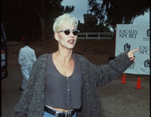 Susan Powter enjoying her life.