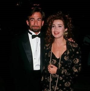 Hayman with his wife, Annie Potts.