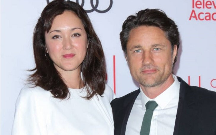 Martin Henderson with her partner
