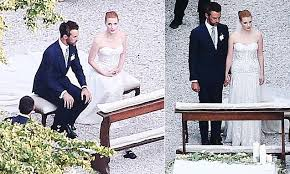 Marriage Ceremony of Gian Luca and Jessica Chastain.