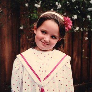 Chloe Fineman in her an early age.