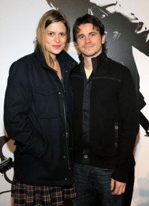 With his ex-girlfriend, Marianna Palka.